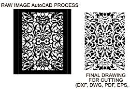 convert image to dxf file for engraving or laser cutting for 5