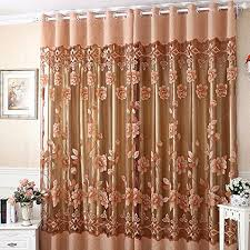 1 stück moderne gardinen wohnzimmer voile blumen tulle fenstersiebung vorhänge drapieren schals 250cmx100cm h x b kaffeebraun