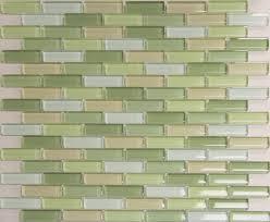 beautiful blue green glass tile kitchen backsplash design