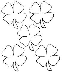 Four Leaf Clovers Coloring Sheets Printable