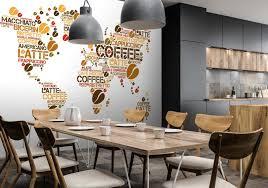 fototapete weltkarte kaffee küche fototapeten tapete wandbild kaffeebohnen weltatlas m6155