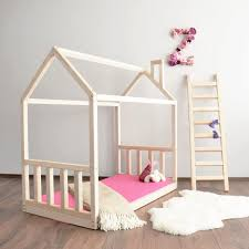 House bed frame Toddler bed Montessori baby bed crib size bed
