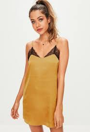 gold lace detail slip night dress missguided ireland