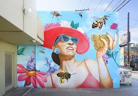 Big Ang Mural Unveiling by O B Muralist Adds Huge Spot Of Color To Mexico City San Diego