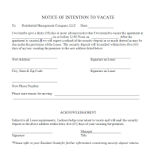 Notice To Vacate Apartment Template notice to vacate apartment