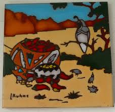 Southwest Decoratives Kokopelli Quilting Co by Navajo Clay Trivet Tile Art Coster 4x4 Southwest Kokopelli Mag Mor