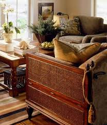 The Dark Wicker And Wood Looks Great With Beiges Greens In Room I Like Density Of Furniture As Well