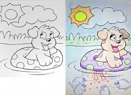 Piranha Puppy Michael Vicks Coloring Book