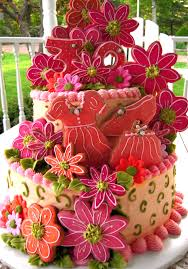 Birthday cake for June s daughter s 30th birthday Flowers dress purse and shoes are