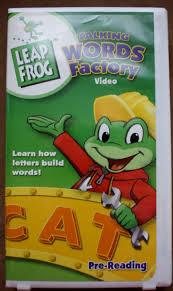 LeapFrog Talking Words Factory VHS 2003