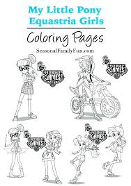 Coloring Pages My Little Pony Girls Equestria Girl Sunset