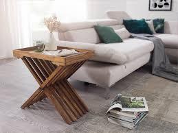 wohnling beistelltisch mumbai massivholz sheesham design klapptisch serviertablett und tisch gestell klappbar landhaus stil