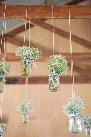 Rustic Wedding Ideas Baby Breath Flowers In A Setting