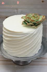 A Splash Of Green Highlighting The Beauty One Single Succulent On Small Celebration Cake