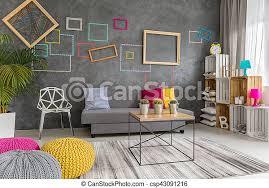 graues gelbes und rosa wohnzimmer modernes wohnzimmer in