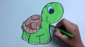 Dibujando Y Pintando A Una Tortuga Drawing And Painting A Turtle