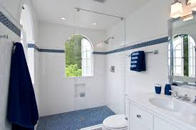 where did you get the hexagonal blue border and shower floor tile