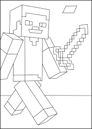 Minecraft Steve 1 On Coloring Page
