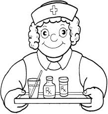 Nurse Coloring Pages A Is Person Who Trained To Give Care Help People Are Sick Or Injured Nurses Work With Doctors And Other Health