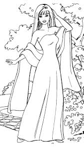 BARBIE COLORING PAGES TWO MORE PICTURES OF Wedding