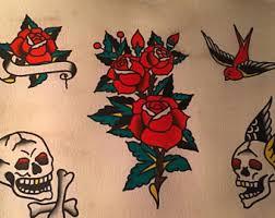 14x10 Sailor Jerry Traditional Tattoo Flash Sheet