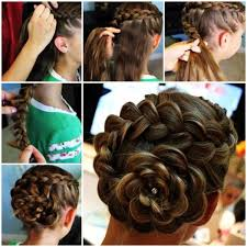 DIY Dutch Rose Flower Braid Updo Hairstyle