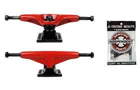 TENSOR Skateboard Trucks Magnesium Red 5.75 8.37