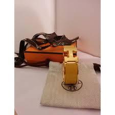 hermes h clic clac bracelet hermès clic clac h jaune plaqué or réf a102813 instant