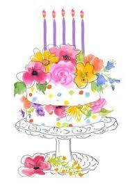 watercolor birthday Google pretraživanje