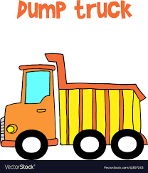 100 Trucks Cartoon Yellow Dump Truck Cartoon Royalty Free Vector Image