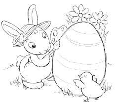 Printable Easter Bunny Coloring Pages For Kids Of Sheets Free Animal