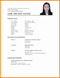 100 Basic Resume Example Of A Simple Templates