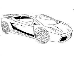 Racing Car Lamborghini Gallardo S70 4 Coloring Page