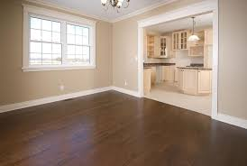 Dark REd Oak Flooring In A New Home