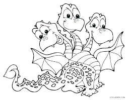 Coloring Page Of A Dragon Pages Printable Fire Breathing