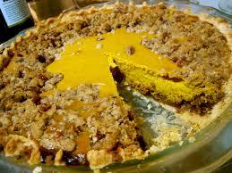 Pumpkin Pie With Gingersnap Crust by Gingersnap Pumpkin Pie With Pecan Streusel U2014 Rhyann U0027s Rad Ventures