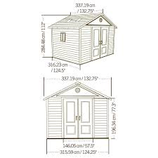 Lifetime Products Gable Storage Shed 7x7 by 100 Lifetime Products Gable Storage Shed Manual Lifetime