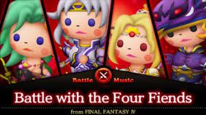Final Fantasy Theatrhythm Curtain Call Best Characters by Theatrhythm Curtain Call Battle With Four Fiends Ffiv Youtube