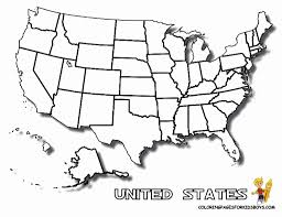 Coloring Pages United States Map Az Inside Page
