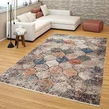 kurzflor teppich marokkanisches muster bunt