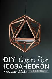 DIY Copper Pipe Icosahedron Light Fixture