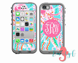 Monogrammed LifeProof Decal Lilly Pulitzer Inspired