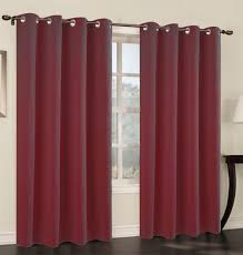 Burgundy Grommet Blackout Curtains by Set Of 2 Blackout Curtain Panels With Grommets 7 Colors U2013 Urbanest