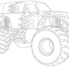 Image Thanksgiving Monster Truck Coloring Pages 0 Drawing With Kids ...