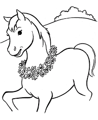 Horse Coloring Pages For Kids Free Sheets