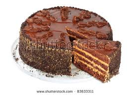 chocolate cake isolated on a white background