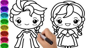 How To Draw Frozen Elsa Anna Princess Coloring Pages