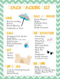 Planning Your Beach Vacation Visit One Of The 10 Summer Beaches Free Packing List Printable