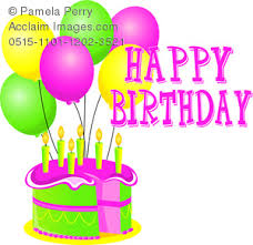 happy birthday cake with balloons clipart images and stock photos