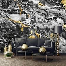 vlies fototapete marmor gold schwarz modern steinoptik steinwand wohnzimmer ebay